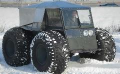 ロシアのハンドメイド全地形型オフロードカーがスゴイ!っていう動画