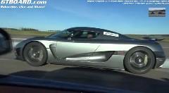 ブガッティ ヴェイロン グランスポーツ ヴィテッセ vs ケーニッグセグ アゲーラR 1000馬力400km/hオーバー車加速対決動画