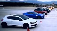 中国製ハイブリッドカー vs スバル BRZ vs 三菱ランエボ vs 日産 Z他 9台同時加速対決動画