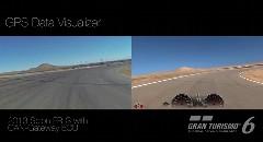 実車の走りを再現できるグランツーリスモ6 GPSビジュアライザーがスゴイ!っていう動画