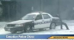 カナダ警察のカーチェイス