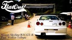 ポール・ウォーカー追悼 日産 R34 スカイライン GT-R ヒルクライムスタート動画