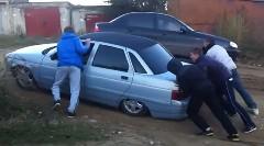 車高低すぎの車でオフロードを走ってみたらやっぱりこうなった動画