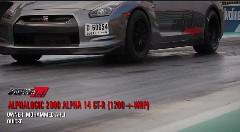 ゼロヨン8秒台!AMSチューン激速GT-R 4台の動画