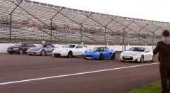 ロータス エリーゼ S vs 日産 370Z ニスモ vs ポルシェ ボクスター vs トヨタ 86 vs アウディ TT 5台同時加速対決動画