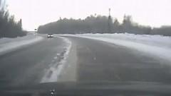 超ラッキー!雪道でスピンしたけど奇跡的になんともなかった動画