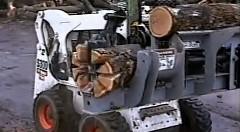 薪割り車の仕事ぶりをひたすら見続ける動画