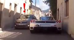 フェラーリ エンツォをアウディ S5 で追いかけてみた動画
