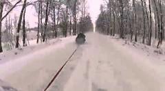 ロシア人がハイスピードすぎるソリを楽しんでる動画