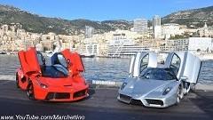 ラ・フェラーリ vs エンツォ 豪華すぎる2台が公道を爆走しちゃう動画
