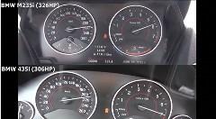 BMW M235i vs 435i 0-250km/h 加速対決メーター動画