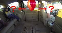 車内のヘリウム風船は発進するとどうなるかわかるかな?っていうサイエンス動画