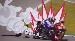 実写+アニメエフェクトのMotoGP オープニングがめちゃんこカッコイイ!っていう動画