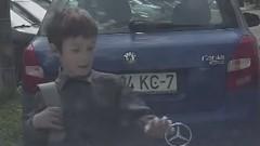 オーナー涙目 少年がベンツのエンブレムをもぎ取っちゃう動画