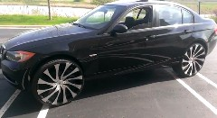 BMW 3シリーズに24インチホイールを履かせてみた動画