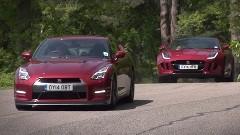 日産 GT-R vs ジャガー F-type R クーペ 峠タイムトライアル動画