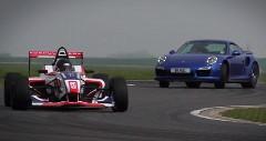 ポルシェ 911 ターボS vs フォーミュラ4 サーキットタイムトライアル動画