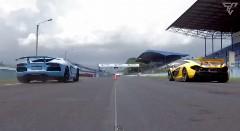 マクラーレン P1 vs ランボルギーニ アヴェンタドール 加速対決動画