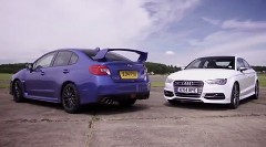 新型スバル WRX STI vs アウディ S3 加速対決動画