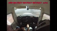 訓練中のセスナのエンジンが故障!緊急着陸するまでの一部始終を捉えたドキドキ動画