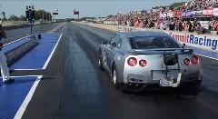 はえー!世界最速の日産 GT-R がゼロヨン7.806秒を記録しちゃう動画