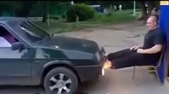 人間ブレーキでバーンアウトしちゃうスゴロシア動画