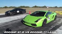 AMS 2000馬力 GT-R のドラッグレース動画