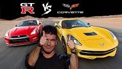 日産 GT-R vs シボレー コルベット C6 いろいろ比較してみた動画