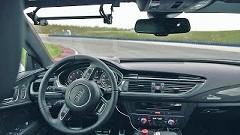 アウディ RS7 ホッケンハイムサーキット無人運転フルオンボード動画