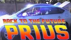 トヨタ プリウスでバック・トゥ・ザ・フューチャーをやってみた動画
