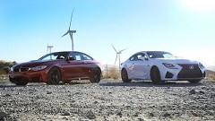BMW M4 vs レクサス RC F サーキットタイムアタック動画