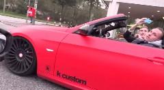 ポルシェ 918スパイダーがBMW 335iカブリオレを信号ダッシュでぶっちぎったつもりになる動画