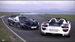 マクラーレン P1 vs ポルシェ 918 スパイダー ハイブリッドスーパースポーツサーキットタイムアタック動画