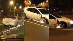 ガリガリガリ!タイヤが無くても無理やり走り続ける車を発見!っていう動画