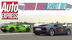 マクラーレン 650S スパイダー vs ランボルギーニ アヴェンタドール 加速対決動画