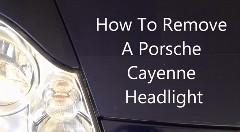 ポルシェ カイエンのヘッドライトの外し方がよくわかる動画