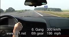 はえー!BMW 850CSi がアウトバーンを300km/hで爆走しちゃう動画