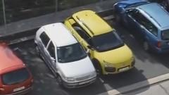シトロエンC4カクタスの受難・・・駐車超下手くそ女ドライバー降臨動画