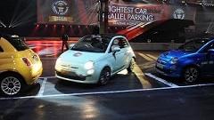 なんと7.5cm!フィアット500のドリフト駐車ギネス世界記録動画