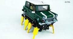 キモカワイイ?レゴで歩くRCミニ クーパーを作ってみた動画