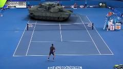 ジョコビッチ vs 戦車 全豪オープンテニス 夢の対決動画