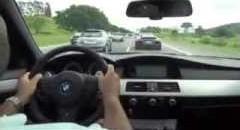 BMW M5 が高速道路で爆走しちゃう動画