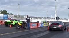 1000馬力 ランボルギーニ ガヤルド vs 560馬力 ポルシェ 991 ターボS ドラッグレース動画
