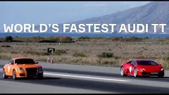 チューンドアウディ TT vs ランボルギーニ ウラカン 加速対決動画