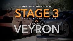 1250馬力 ランボルギーニ ガヤルド vs ブガッティ ヴェイロン 加速対決動画