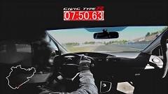 新型ホンダ シビック TYPE R FWDニュル最速7分50秒63 フルオンボード動画
