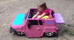 子供用電動自動車にエアサスを搭載してみた動画