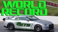 はえー!世界最速日産GT-R ゼロヨン7.492秒新記録動画