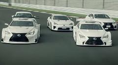 レクサス LFA、RC F、RC F GT500、RC F GT3 が超絶ドリフトしちゃう動画