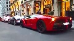 金持ち喧嘩せず!ラ・フェラーリがヴェイロンにぶつけられちゃう動画